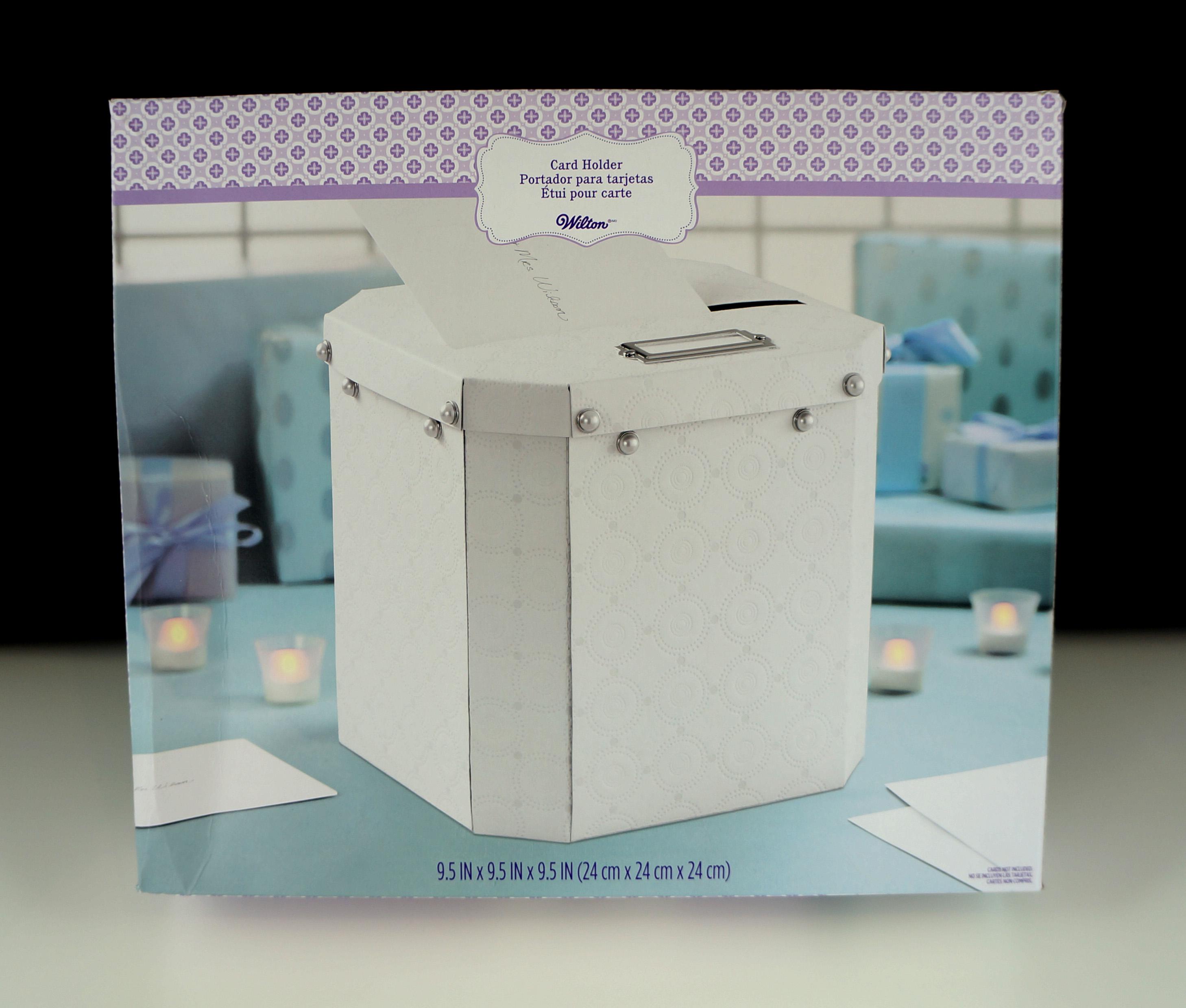 wilton ornate pearl card holder box